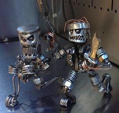 Суровые работы из деталей от мертвых двигателей и металлолома от парня по имени Tyler из компании Tigger Welding / Интересное в IT