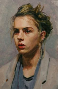 """★ """"Lotti"""" - Louis Smith, oil on canvas {blonde female head woman face portrait cropped painting} Acrylic Portrait Painting, Oil Portrait, Painting & Drawing, Portrait Paintings, Oil Paintings, Paintings Of Faces, Painting Process, Portrait Ideas, Painting Abstract"""