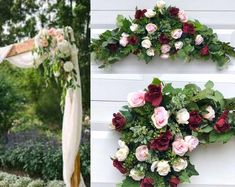 BellasBloomStudio Wedding Arch Flowers, Wedding Arch Rustic, Garland Wedding, Wedding Backdrops, Cheap Wedding Decorations, Wedding Ideas, Diy Wedding, Eucalyptus Wedding, Bohemian Bride