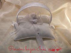 white wedding ring pillow