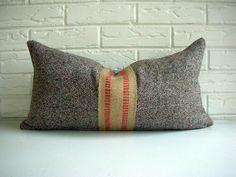 lumbar pillow w/red jute upholstery webbing.