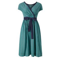 wrap style dresses are one of the few that I know work for my body type (that being very top heavy), it doesn't hurt that stripes are involved...$195