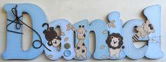 Nome+decorado+em+MDF+e+Scrap+personalizado+para+decoração+de+quarto,+porta+maternidade,+festas...+Tema+e+cores+a+sua+escolha R$ 91,52