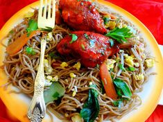 Suriname Food, Tandoori Chicken, Chicken Wings, Foodies, Spaghetti, Meat, Cooking, Ethnic Recipes, Shanghai