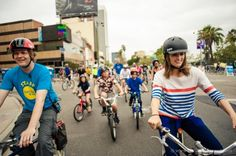 EVENTS: Stana Katic - CicLAvia (2013)