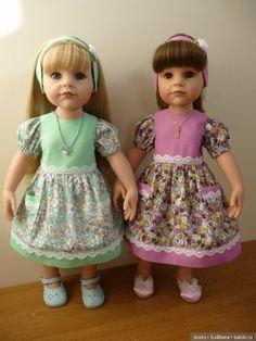 Весенне-летние платья для парных кукол Готц. Весна идет! / Одежда и обувь для кукол - своими руками / Бэйбики. Куклы фото. Одежда для кукол