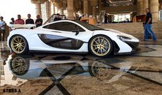 McLaren P1 by MSO wears 24K gold wheels and engine cover. Photo by AT903 Photography.