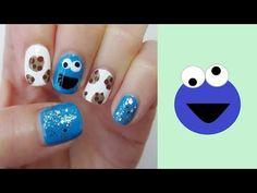 ♥♥ Sesame Street Cookie Monster Inspired Nail Art ♥♥ http://youtu.be/dXLeSJf-yNE ♥♥ #nailart #notd #manicure #sesamestreet #cookiemonster #naildesign #nailpolish #cutenails #cutemanicure #cutenailart #nailit
