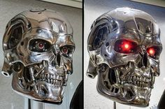 """""""There is one more chip and it must be destroyed, also!"""" T-800 endoskull, created by Stan Winston Studio FX artists for the opening sequence in Terminator 2: Judgment Day (1991)."""