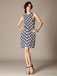 Woven Crepe Printed Back Pocket Dress by Marni on Gilt