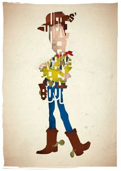Woody typography print based on a quote from the movie Toy Story