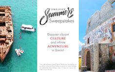 Enter to win a 3-night vacation in the Bahamas sweepstakes. giveaway contest sweeps pin it to win it