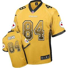 438a0aa7687 Nike Steelers Heath Miller Gold Men s Stitched NFL Elite Drift Fashion  Jersey And Jake Butt 80 jersey. Paul Hollenberg · Antonio Brown Jersey