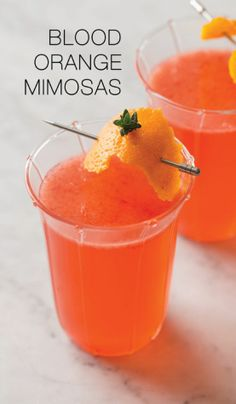 mimosas : blood orange Remember this next Christmas when the Blood Oranges are ripe....
