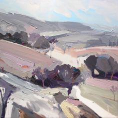 Richard Claremont, oil painting, 'Crossing The Plains'