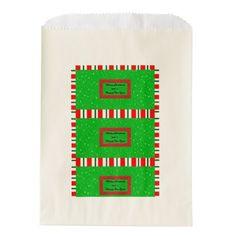 Merry Christmas&Happy New Year Favor Bag - christmas craft supplies cyo merry xmas santa claus family holidays