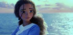 Moana (Vaiana) - Katara by AmioYuki on DeviantArt Disney Au, Dark Disney, Disney Love, Avatar Cartoon, Princess Moana, Falling Back In Love, Female Protagonist, Dark Skin Tone, Avatar The Last Airbender
