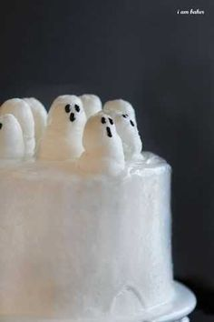 Ghost cake with a fun surprise inside!