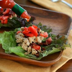 Spicy Chicken Club Lettuce Wraps - Low Carb and Gluten-Free