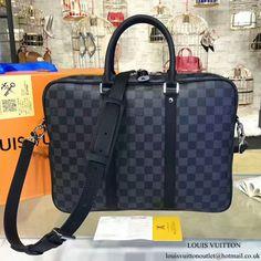76cb3c47b7 Louis Vuitton N41478 Porte-Documents Voyage PM Briefcase Damier Graphite  Canvas. Louis Vuitton Mens BagBusiness ...