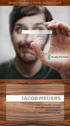 Translucent Plastic Business Card Design