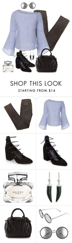 """Sin título #1685"" by mussedechocolate ❤ liked on Polyvore featuring Maje, Rebecca Minkoff, Gucci, NOVICA, Alexander Wang and Linda Farrow"