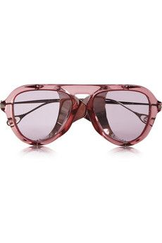 5a608822483 Gucci - Aviator-style acetate and metal sunglasses