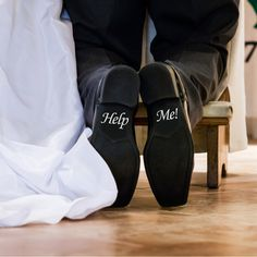 Help Me! Shoe Decals from £1.99 LondonDecal.com #LondonDecal #Wedding