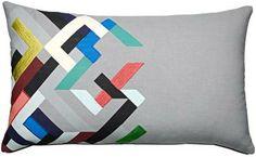 Modern cushions in mixed patterns, Tetris #boconcept