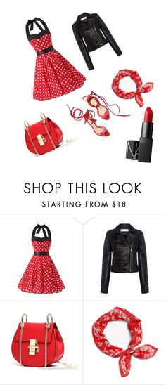 """#red#Rebel"" by viki-pokorna ❤ liked on Polyvore featuring IRO and NARS Cosmetics"