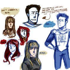 soulstumppunk:  For those of you that don't know, I run the ask spidermanblog, and I sketched some not really related but characters that might pop up from time to time (Gwen and MJ) and Spider-Man/ Peter Parker. Also, this is how I usually draw, when I'm not totally packed up with nerves when I'm posting on the Spideyblog!