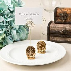 Compass Rose Place Card Holder