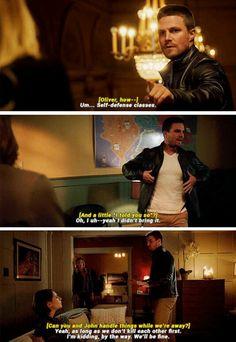 Comedian Oliver #Arrow #Season4 #4x02