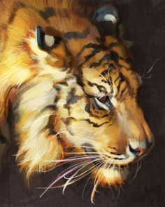 Fantasy Animal Paintings That Show The Real Magic In The World Fantasy Paintings, Animal Paintings, Fantasy Art, Animal Sketches, Animal Drawings, Memes Arte, Tiger Painting, Tiger Art, Wildlife Art