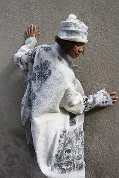 Feutre Art Textile: Portrait de Françoise Christien