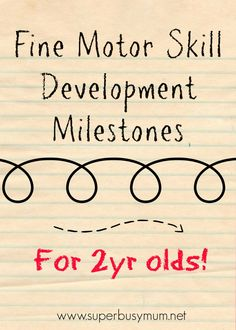 A handful of helpful tips to help your two years old fine motor skill development! #childdevelopment #motorskills http://superbusymum.net/fine-motor-skill-development-milestones-for-2yr-olds/