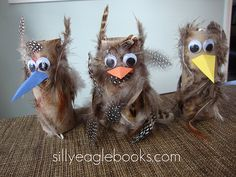 TP Tube Owls- love the feathers