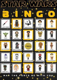 May the 4th be with You - Star Wars Bingo - Star Wars Trail Mix - General Authority or Jedi