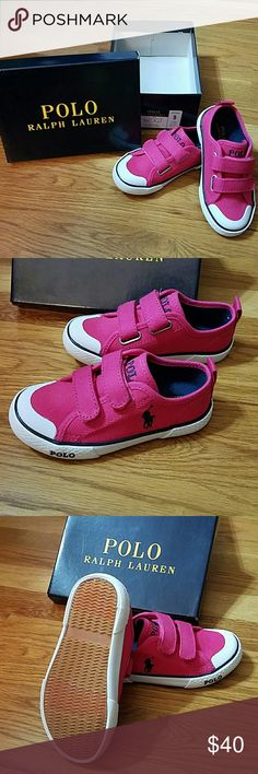 NWT Polo Ralph Lauren Shoes NWT Polo Ralph Lauren Shoes Hot Pink w/ Navy Polo Logo Ulta Pink Carlisle III Ez Size 9 Never worn Polo by Ralph Lauren Shoes Sneakers