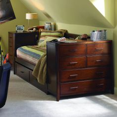 Full Size Daybeds with Storage | Furniture Kendall Daybed with Daybed Pier, Daybed Dresser, and Storage ...