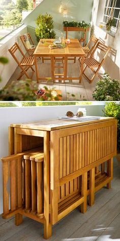 Discover recipes, home ideas, style inspiration and other ideas to try. Folding Furniture, Diy Furniture Plans, Space Saving Furniture, Furniture For Small Spaces, Home Decor Furniture, Furniture Design, Smart Furniture, Dining Furniture, Ikea Dining