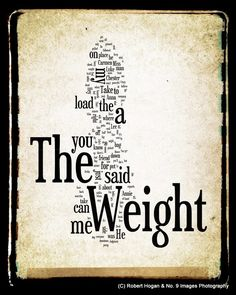 The Weight - The Band - Word Art 11x14 Print - Gift Idea. $25.00, via Etsy.