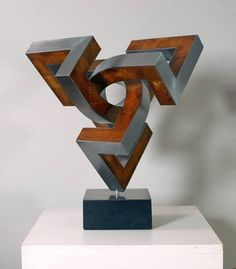 Buy trespherica, a Steel Sculpture on Wood, by Nikolaus Weiler from Germany, For sale, Price is $6500, Size is 16.5 x 15 x 13 in.