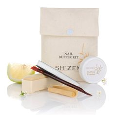 Nail Buffer Kit This manicure set gently buffs nails to an exquisite shine within seconds - enhancing their natural colour and promoting stronger growth. Manicure Set, Zen, Place Card Holders, Skin Care, Nails, Face, Colour, Beautiful, Beauty