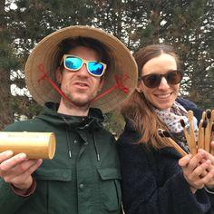 Our best friends from Koliba u Jogošíka, yoga instructors Janek and Andrea, proudly wearing bamboo sunglasses 😎 Boho Beach Style, Wooden Sunglasses, Cowboy Hats, Boho Fashion, Bamboo, Yoga, Fan, Friends, Photos