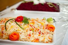 Selbst gemachter und eingelegter Weißkrausalat. Korotkov Catering & Partyservice