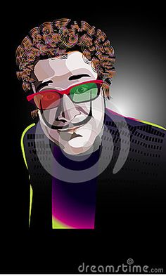Illustration about The man in the stereo glasses for cinema. Illustration of moustache, manner, stereoscopic - 49877697 Mens Glasses, Moustache, The Man, Joker, Cinema, Illustration, Fictional Characters, Art, Art Background