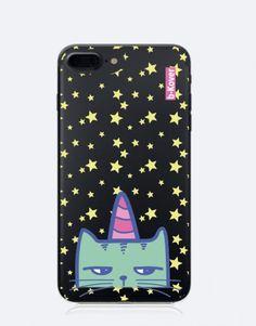 funda-movil-unicornio-gato-unicornio-4 Phone Cases, See Through, Mobile Cases, Unicorns, Cat, Animales