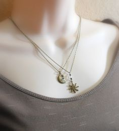 Best friend sun and moon necklaces his and by GypsyTribeJewelry, $42.50