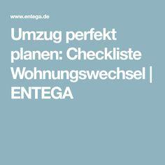 Umzug perfekt planen: Checkliste Wohnungswechsel | ENTEGA